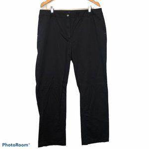 Black dress pants button zip closure pockets